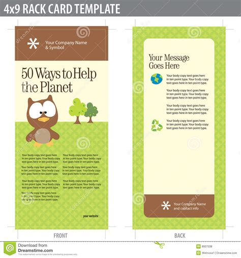Rack Card Template Psd by 11 Rack Card Template Psd Images Sle Rack Card