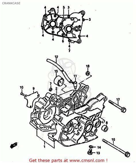 1985 Suzuki Lt50 Parts Suzuki Lt50 1985 F Crankcase Schematic Partsfiche