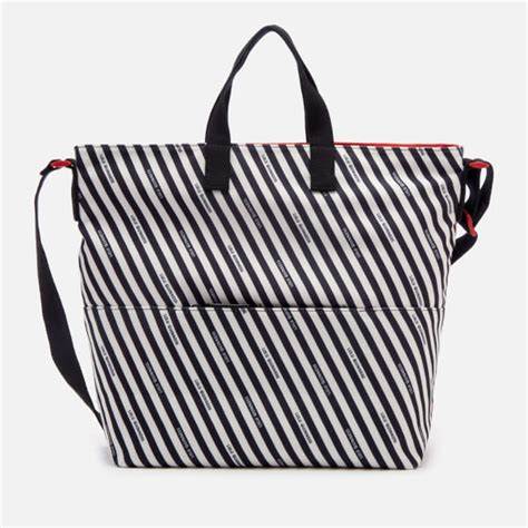 Lulu Guinness Striped Maddy Tote by Lulu Guinness S Stripe Canvas Romy Tote Bag Chalk
