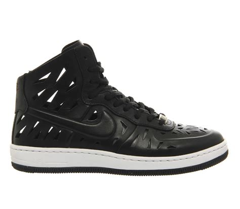 Mid Top lyst nike air 1 leather mid top sneakers in black
