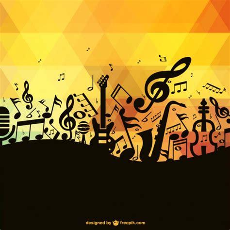 imagenes siluetas musicales fondo con siluetas de notas musicales descargar vectores