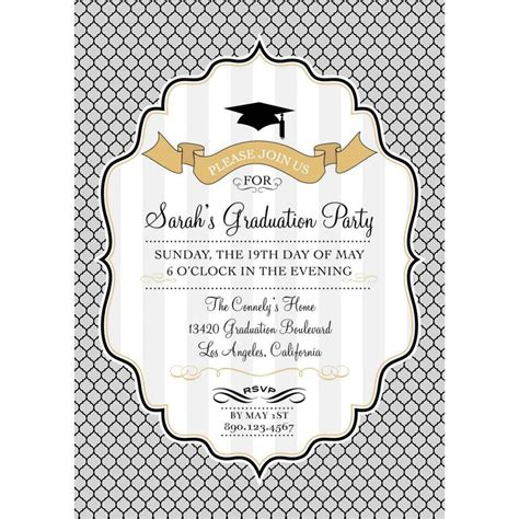 Minimalistic Graduation Invitation Card Template by Graduation Invitation Templates Free Photoshop