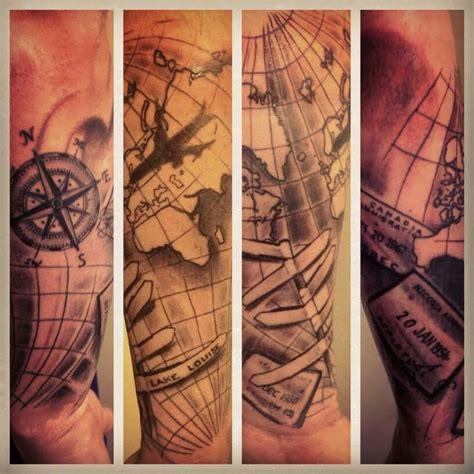 compass tattoo ink master travel tattoo compass plane sts tattoo research