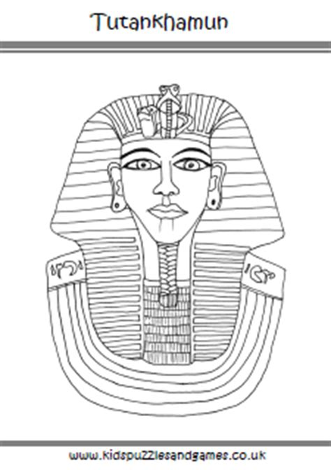 king tut mask template ancient puzzles and