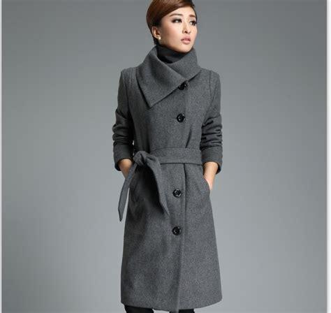 Ho2888 Topi Fashion Winter Wool Grey high quality grey coat fashion korean trench coats jacket black blend