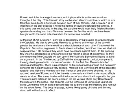 Romeo Juliet Act 3 1 Essay Plan by Romeo And Juliet Gcse Essay Act 3 S