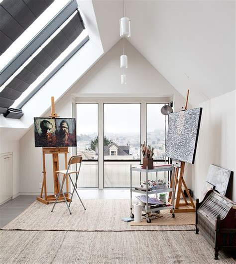 attic work space 19 artist s studios and workspace interior design ideas