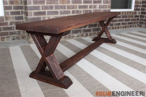 x bench diy diy x brace bench free easy plans rogue engineer