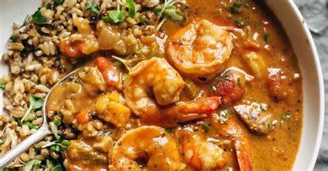 printable gumbo recipes spicy weekend gumbo with shrimp and sausage recipe pinch