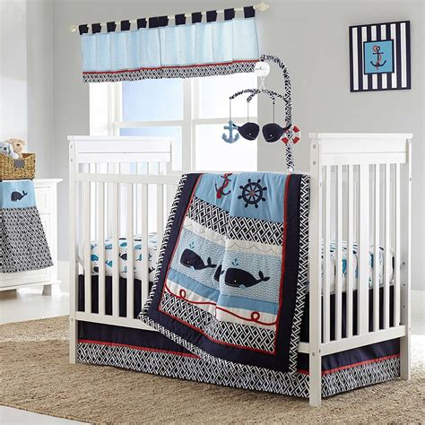 Whale Crib Bedding Set Whale Of A Tale Baby Bedding And Accessories Baby Bedding And Accessories