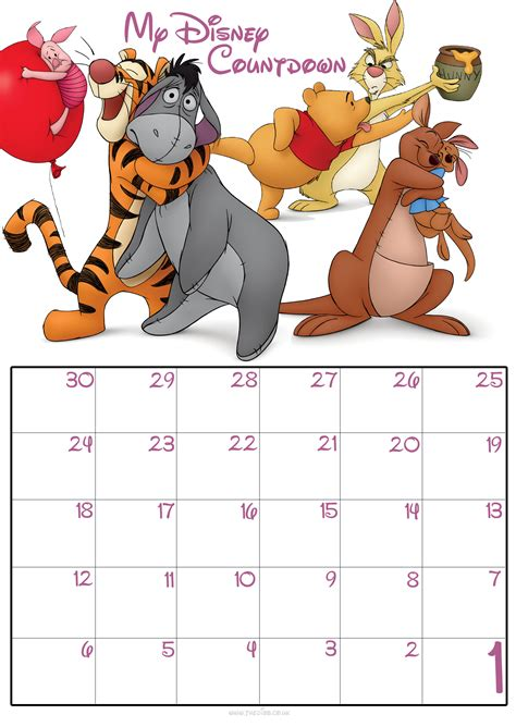 printable monthly calendar disney disney printable images gallery category page 6