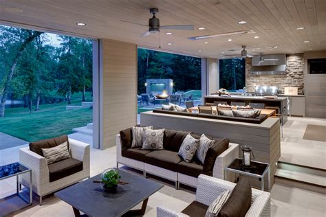 Modern Patio Design Covered Patio Designs Patio Contemporary With Ceiling Fan Grass Grill Beeyoutifullife
