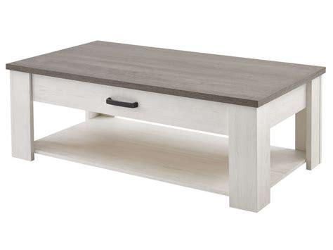 Table Basse Avec Tiroir Conforama by Table Basse Rectangulaire 1 Tiroir Duke Coloris Blanc