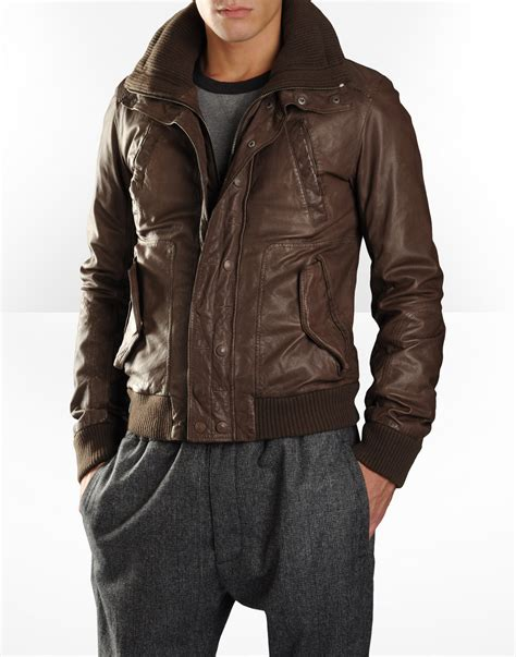 leather jacket d g s brown leather jacket s fashion