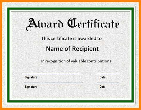 Award Certificate Templates Word Microsoft Word Award Certificate Template Sle Award Microsoft Word Award Certificate Template