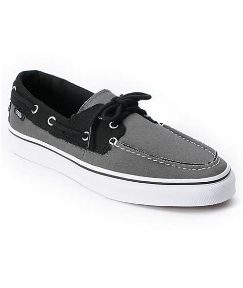 vans or boat shoes vans zapato del barco 2 tone pewter grey black boat