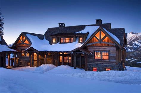 the ski house rustic mountain retreat in big sky resembles an old lodge