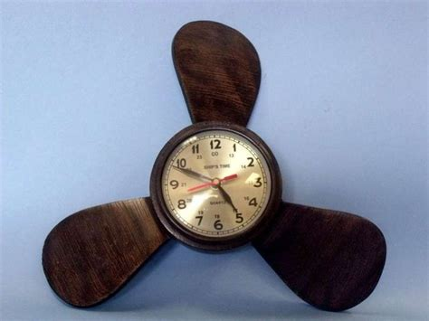 boat propeller wall clock buy bronze colored aluminum ship s propeller wall clock 12