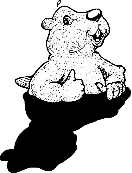 Groundhog Shadow Coloring Page by Groundhog Day Coloring Page One Sunnie Bunniezz Activity Page