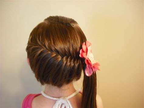 cute hairstyles with braids youtube side swept french fish braid hairstyle youtube