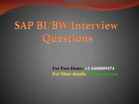 ppt sap bi powerpoint presentation id 7494216