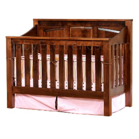 Baby Cribs Solid Wood by Solid Wood Cribs Amish 4 In 1 Convertible Crib Mission