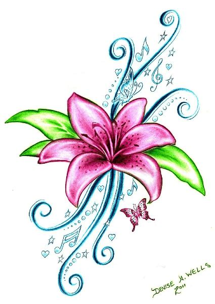 bright flower tattoo designs possible ankle or right shoulder bright purple