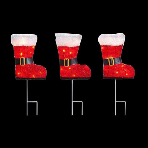 Track Lights For Kitchen Ceiling - home accents holiday 36 light red boots pathway light set of 3 ty273 1114 the home depot
