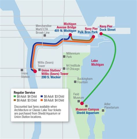 chicago boat tour map we have found that some of the best views of chicago come