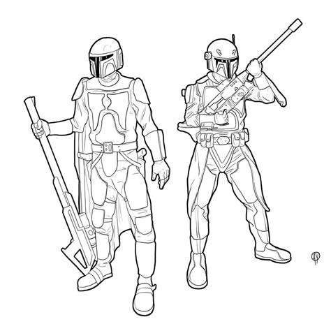 Mandalorian Commission By Ryan Rhodes On Deviantart Mandalorian Coloring Pages