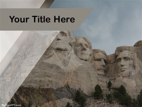 Free Mount Rushmore Ppt Template Download Free Powerpoint Ppt Mount Rushmore Photoshop Template