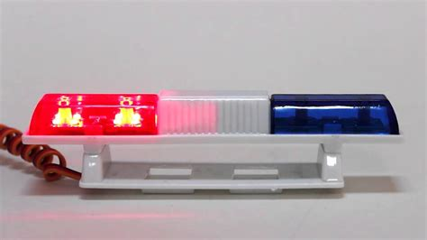 why are police lights red and blue rc police led light bar red blue great hobbies youtube