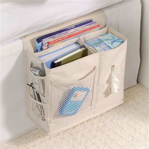 bed organization bedside storage caddy denier in bedside storage
