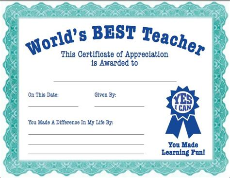 printable teacher gift certificate of appreciation 7 best ideas about teacher appreciation on pinterest