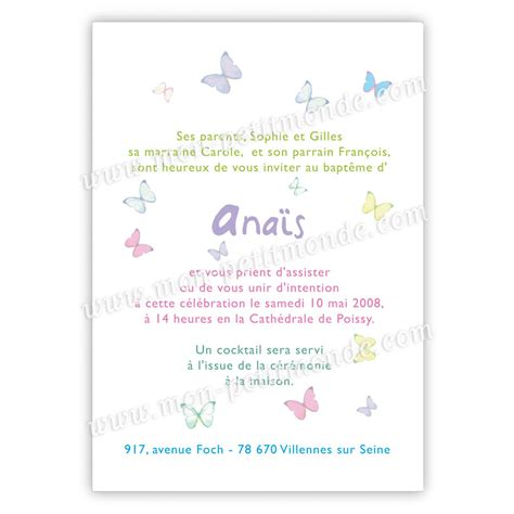 Exemple Lettre D Invitation Bapteme Modele Invitation Anniversaire Et Bapteme Document