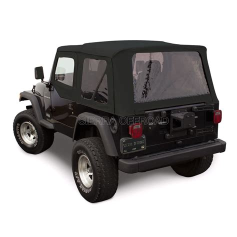 jeep soft top black jeep wrangler tj soft top 1997 02 tinted windows upper