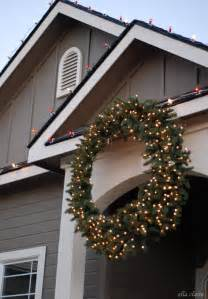 how to hang a giant outdoor christmas wreath ella claire