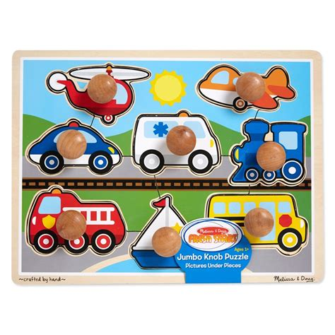 Jumbo Knob Puzzles by Vehicles Jumbo Knob Puzzle Educational Toys Planet
