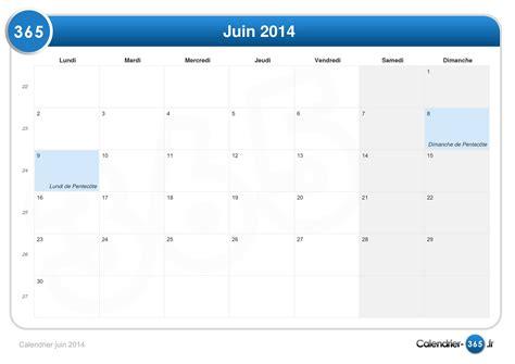 Calendrier Juin Calendrier Juin 2014