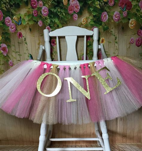 Tutu Bed Skirt Tulle Gold by Pink And Gold High Chair Tutu Highchair Tutu High Chair