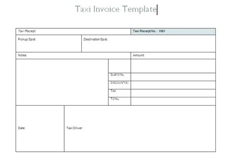 Taxi Receipt Template Doc by Taxi Receipt Template Exle Blank Taxi Receipt Free