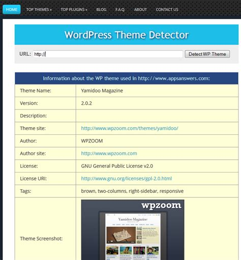 wordpress themes detector wordpress theme detector detect themes plugins wp solver