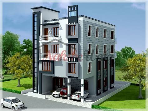 1 1 2 Story Floor Plans by Multi Storey Residential Buildings 3d Front Elevation Design