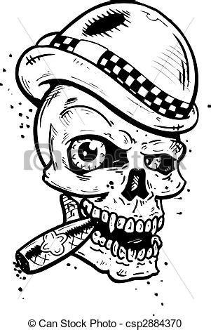 mohawk outline designs clipart vecteur de tatouage style cr 226 ne cigare punk