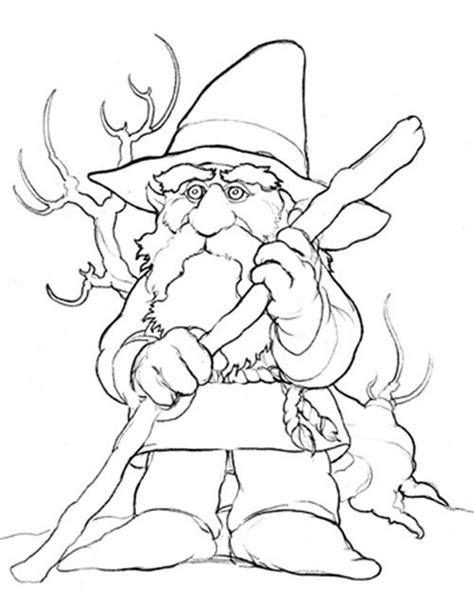 free coloring pages of garden gnome