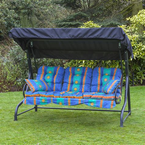swing seat homebase garden patio 3 seater black swing seat hammock with