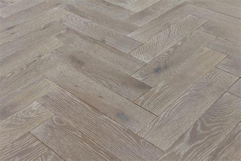 Hazy Hardwood Floors by Zigzag Silver V4 Herringbone Wood Floors