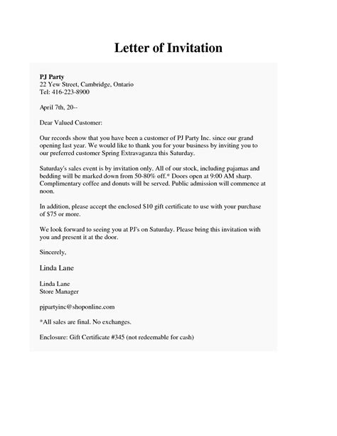 Invitation Letter Format For Opening Ceremony invitation letter for opening ceremony sle invitation