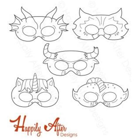printable minotaur mask mythical creatures printable coloring masks unicorn