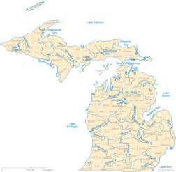 Michigan Lakes Map by Michigan Lake Map River Map And Water Resources